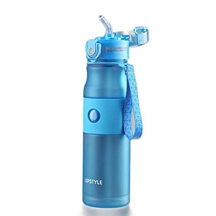 NCTM Taza de Viaje con Botella de Deporte de un Solo botón con Paja de Silicona