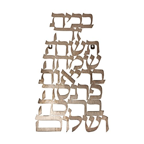 God Bless Wall Hanging - Jewish Home Blessing For New Home - Dorit Judaica STAINLESS STEEL FLOATING LETTERS HEBREW HOME BLESSING (Bundle) (Jewish Ornament)