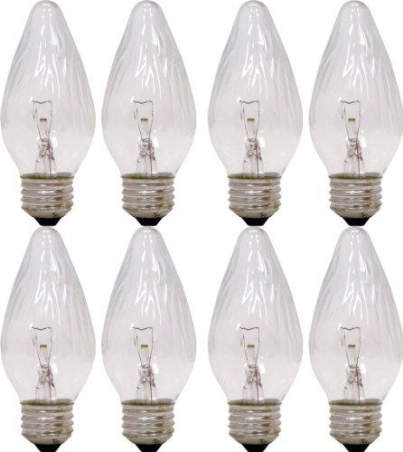 Decorative Incandescent Bulb - GE Auradescent 75340 25-Watt, 120-Lumen Flame Tip Light Bulb with Medium Base, 8-Pack