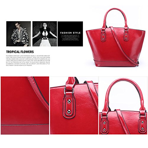 In Sdinaz Crossbody Vintage Pu Handbags Bag Tote Shoulder Leather For Bags Design Large Red Dark Women WET4rnawxE