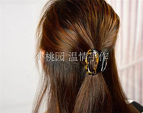 (usongs Imported high-grade parent-child hair accessories tortoiseshell leopard sheet gripper ponytail hair caught acetate resin headdress Korean)
