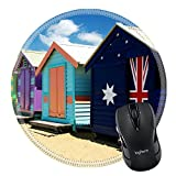 MSD Mousepad Round Mouse Pad/Mat 2806827 Beach Houses on Brighton Beach Melbourne Victoria Australia