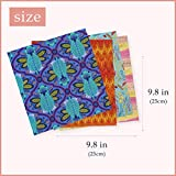 "POL&CO 50pcs 9.8"" x 9.8"" Cotton Craft Fabric Bundle"