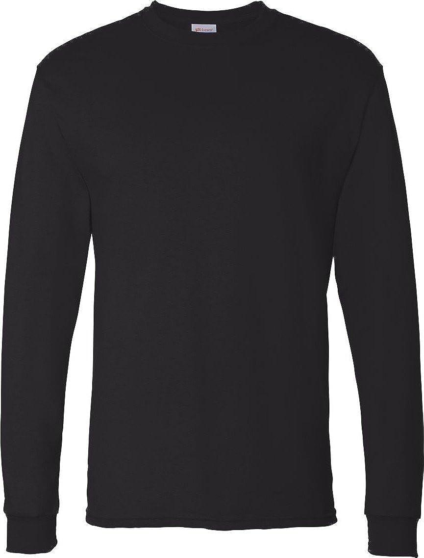 Uomo T-Shirt Hanes Maniche Lunghe Asimmetrico