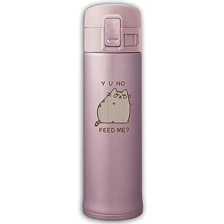 Pusheen The Cat Yo No Feed Me Stainless Steel Mug 17 Ounce Pink