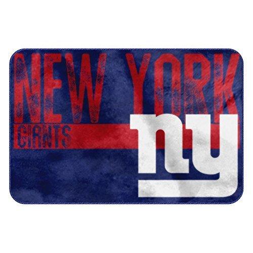 The Northwest Company NFL New York Giants Embossed Memory Foam Rug, One Size, - Giants Rug New York