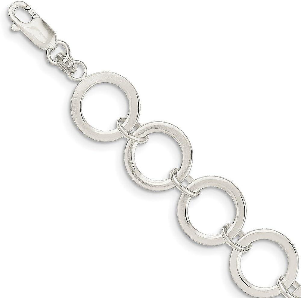 925 Sterling Silver 8 Bracelet Circles Bracelet 699-2601