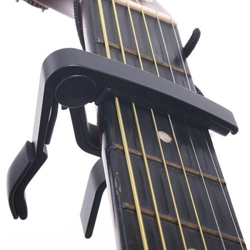 Jia Jia Trade Guitar Capo for Acoustic and Electric Guitar , Professional Quality Trigger Style - Aluminum Alloy (Black) (Electronic Tunner compare prices)