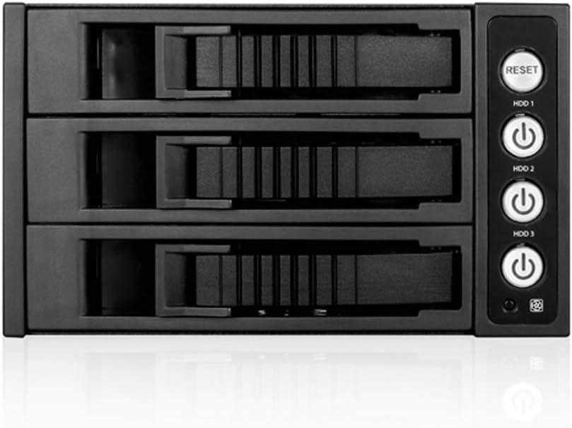 ISTAR BPU-230HD-BLACK 2X 5.25 to 3X 3.5 2.5 12Gb//s HDD SSD Hot-swap Rack