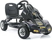 Hauck Batmobile Pedal Go Kart, Superhero Ride-On Batman Vehicle, Kids 4 and Older, Peddle & Patrol the Str
