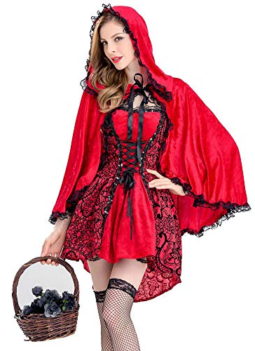 Red Riding Hood Costumes Images - FFNIU730 Women's Red Riding Hood Halloween