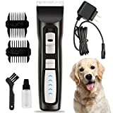 oneisall Heavy Duty Dog Hair Clippers, Professional Rechargeable Cordless Pet Grooming Trimmer Dog