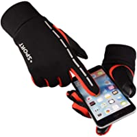 Litake Touch Screen Cycling Gloves Unisex Luminous Outdoor Warm Velvet Waterproof Windproof Gloves