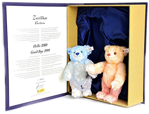 STEIFF HELLO-GOODBYE BEAR. Hello 2000 Good-Bye 1999 Collectible Steiff EAN 67... ()