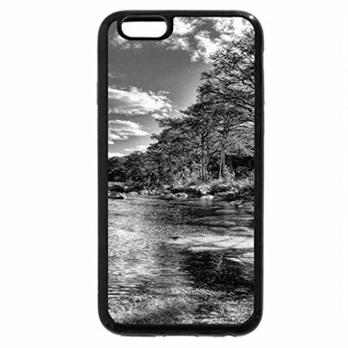 iPhone 6S Plus Case, iPhone 6 Plus Case (Black & White) - frio river in garner stae park texas hdr