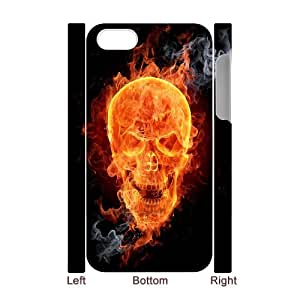 ZK-SXH - Flame Skull Brand New Durable 3D Cover Case Cover for iPhone 4,4G,4S, Flame Skull Cheap 3D Case