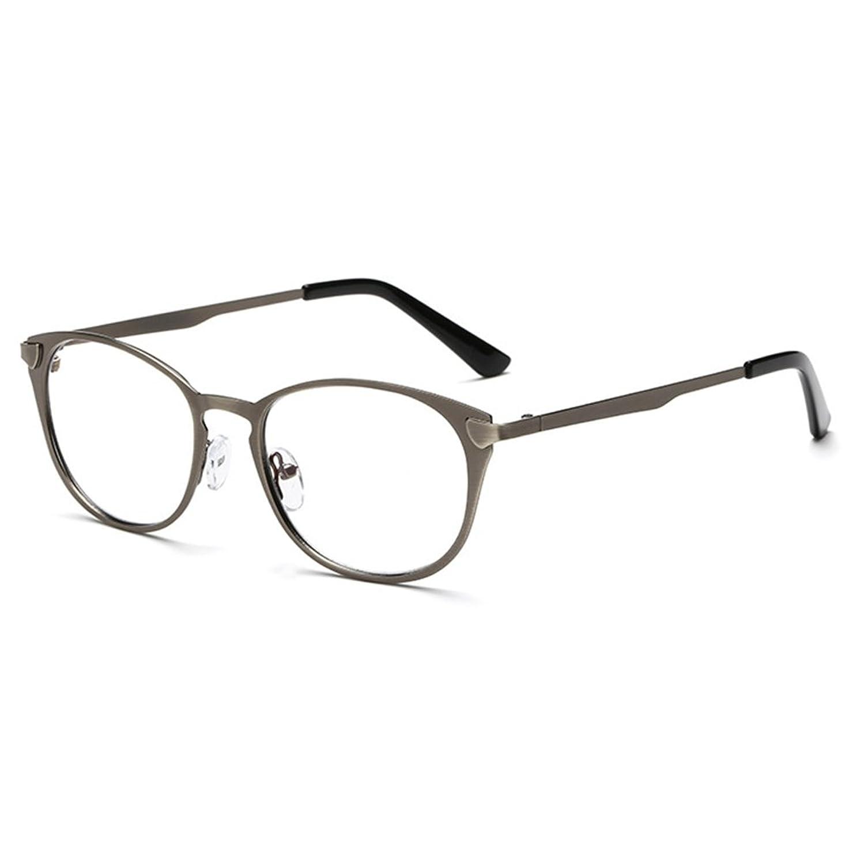 ee36edd68c El servicio durable Hombres Mujeres Gafas de lentes transparentes - Marco  de metal Anti azul claro claro ...