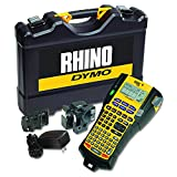 DYMO Rhino 5200 Industrial Label Maker Cary Case Kit with 2 Rolls of Vinyl Labels, 3/4'' & 3/8'', Black on White (1756589)