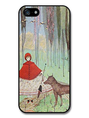 Vintage Fairy Tale Red Riding Hood Cool Illustration Style Fashion Design coque pour iPhone 5 5S