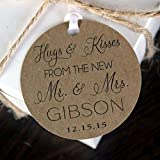 Hugs & Kisses Wedding Favor Thank You Tags