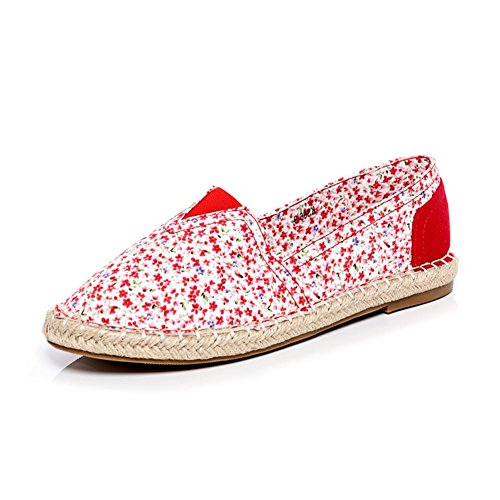 Tela sendit4me Floreale in Espadrillas Red Pumps wqW1qPtg