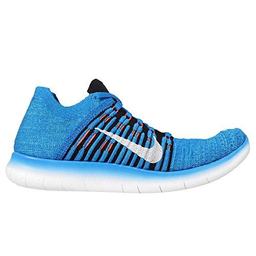 Nike Free Run Flyknit Photo BlueBlk Gamma Blue Total Orange