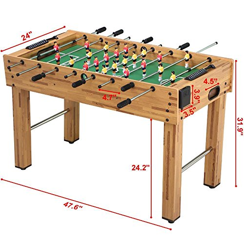 Buy Discount Topeakmart 48'' Foosball Table Soccer Game Indoor Arcade Family Sports Natural Football...