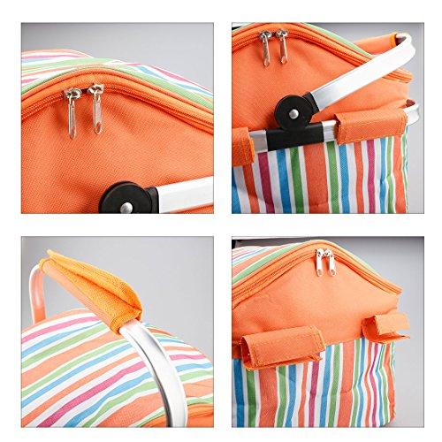 A-szcxtop pliable Panier de pique-nique isotherme léger et durable Orange 20 l DOfUoI9D