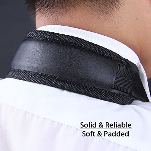 Jiuxun Saxophone Neck Strap with Comfortable Soft-Padded, Adjustable Harness Belt and Metal Hook for Tenor Alto Sax and Clarinets Oboes
