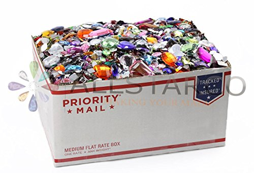 Lifetime Suply of Crafting Flat Back Gems Rhinestones, Cabochons Over 10LBS by Allstarco
