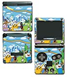 Adventure Time Jake Finn Princess Bubblegum Marceline Video Game Vinyl Decal Skin Sticker Cover for Nintendo GBA SP Gameboy Advance System