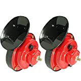 Etopars 2 X Red 12V Loud Car Auto Vehicle Truck Motorcycle Electric Snail Horn Sound Level 110dB