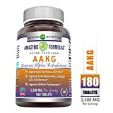 Amazing Formulas AAKG Arginine Alpha-Ketoglutarate 3500 Mg Per Serving, 180 Tablets (Non-GMO) -Supports Synthesis of Proteins* -Supports Lean Muscle Mass, Strength Gain & Endurance*
