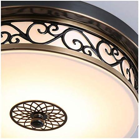 Deckenlampe LED Retro Schwarz Dimmbar Vintage Landhaus Rund Eisen Deckenleuchte Innen Design Schlafzimmer Decke Lampen Flur Bad Esszimmer Leuchte Weiß Glas Lampenschirm Deckenbeleuchtung Ø40cm*H13cm