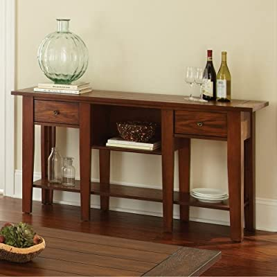 Steve Silver Desoto Sofa Table - Dark Oak