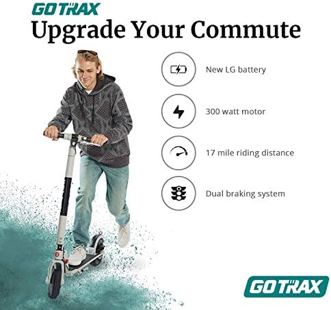 Gotrax XR Ultra Electric Scooter, 36V/7.0AH Battery Up to 17 Miles Long-Range, Powerful 300W Motor & 15.5 MPH, UL Certified Adult E-Scooter for Commuter