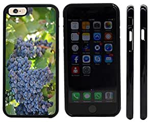 chen-shop design Rikki KnightTM Red Wine Grapes on the vine Design iPhone 6 Case Cover (Black pc with front bumper protection) for Apple iPhone 6 high quality