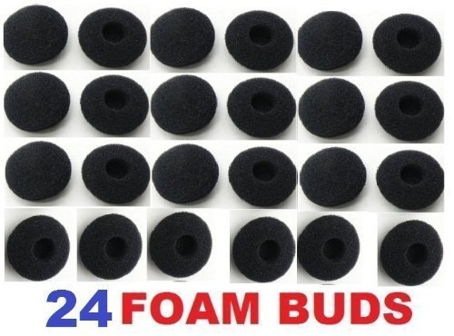 SoftRound 24 Pack Foam Earbud Earpad Ear Bud Pad Replacement Sponge Covers for Ipod Iphone Itouch Ipad Headsets (Itouch Cover)