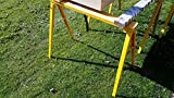 Heavy Duty Folding Adjustable Sawhorse - Single