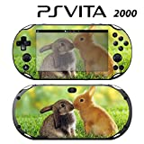 Decorative Video Game Skin Decal Cover Sticker for Sony PlayStation PS Vita Slim (PCH-2000) - Sweet Rabbits Bunny Kisses