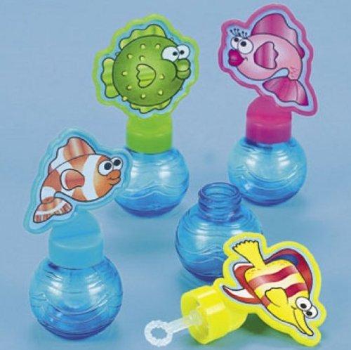 Plastic Tropical Fish Bubble Bottles (24 pc) (Plastic Bubble Fish Bottle Tropical)