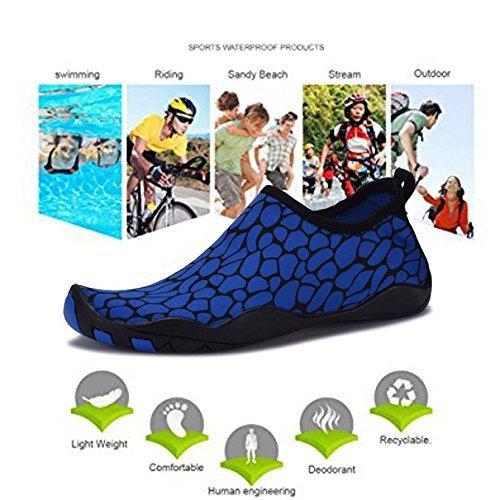 Demango Yoga Schoenen Barefoot Sneldrogend Watersport Aqua Schoenen Zwemmen Wandelen Meer Strand Blauw