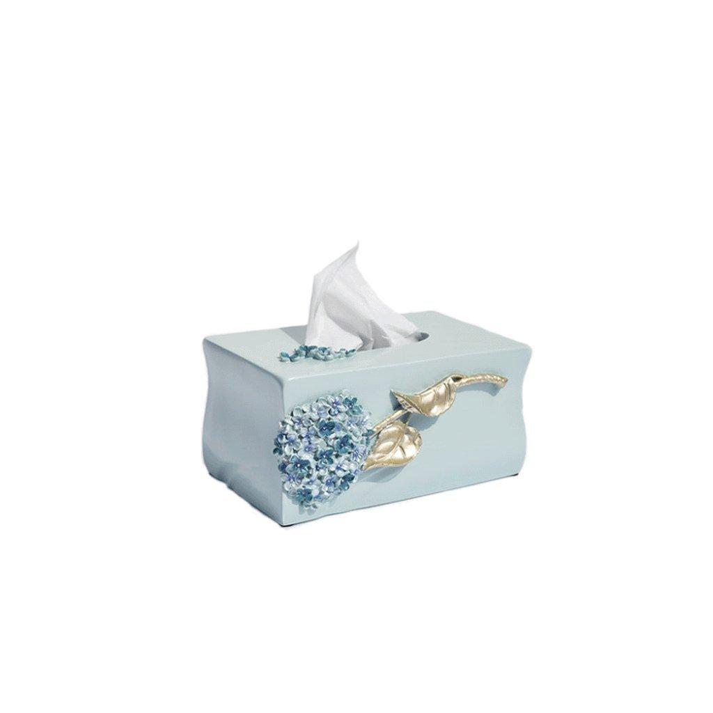 Lyqqqq Tissue Box European Creative Simple Living Room Tissue Box Napkin Tray Toilet Paper Containers