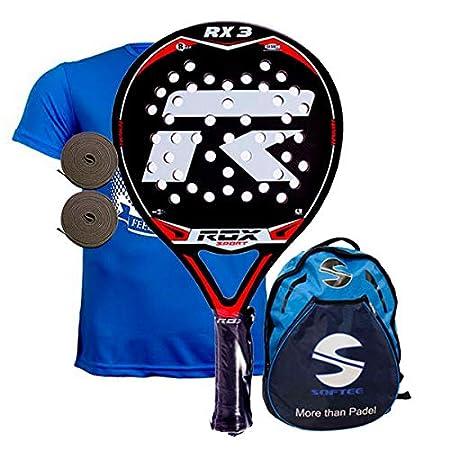 Amazon.com : ROX RX3 Padel Tennis Racquet, Unisex Adult, Black/Red/Grey, 38 mm : Sports & Outdoors