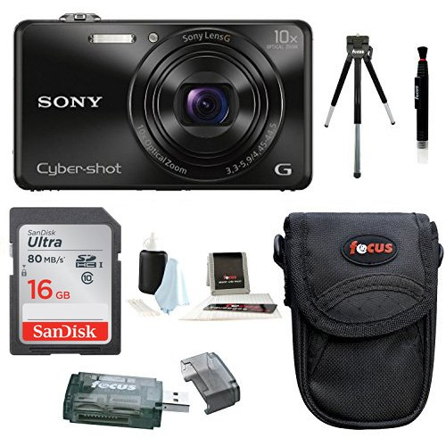 Sony Cyber-shot DSC-WX220 18.2 MP Digital Camera Bundles (Base Bundle)