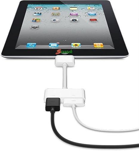 Compatible con Apple Adaptador Apple 30 Pin a Conector Lightning con Audio Blanco iPhone 5