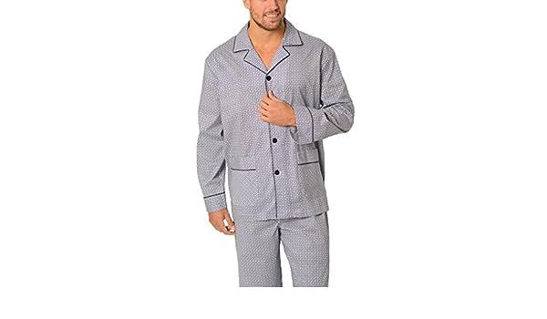 El Búho Nocturno (Especial Tallas Grandes) Pijama de Caballero Largo clásico Cachemir/Ropa de Dormir para Hombre - Tela Popelín, 100% algodón - Talla 5XL ...
