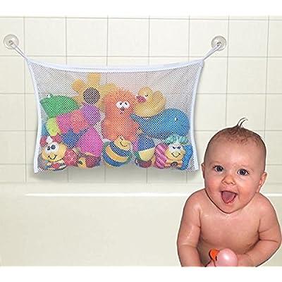MingTian Kids Baby Bath Tub Toy Bag Hanging Organizer Storage Bag Large 45 X 35cm: Sports & Outdoors