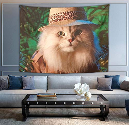 NiYoung Tapestry Queen Safari Cat Cute Funny Kittens Animal Art Decor Mandala Beach Bedspread Intricate Indian Bedspread Tapestries 40 x 60 Inches]()