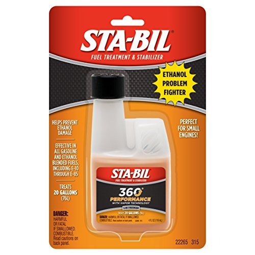 STA-BIL 22265-CS Ethanol Treatment with Performance Improver – 4 oz., 8 Pack